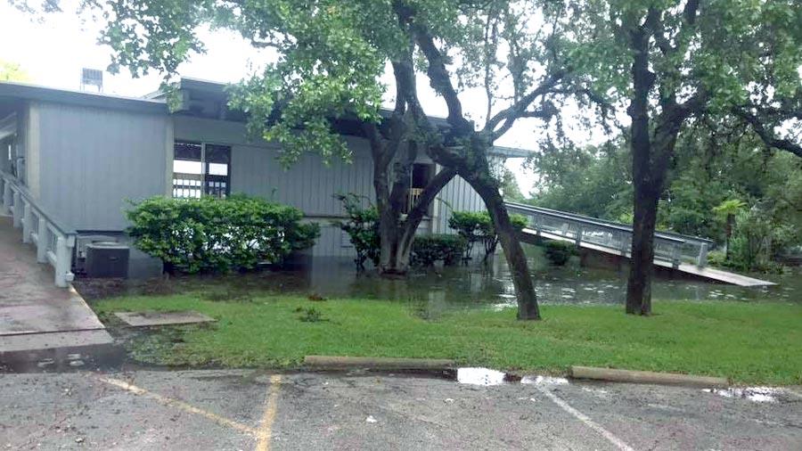 Polyaspartic Floor Coating Survives Lake Travis Flooding