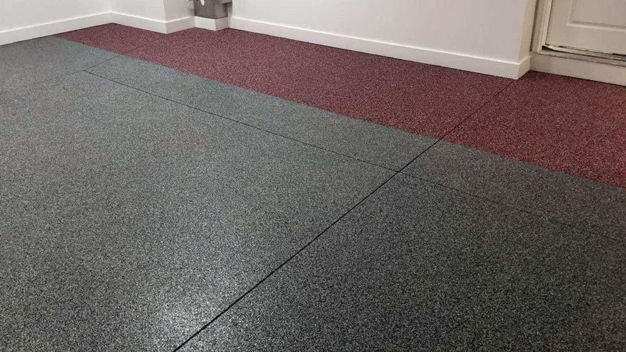 Two Tone Custom Garage Floor Coating In Omaha Nebraska