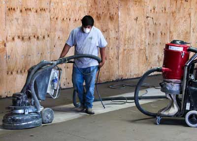 Grinding Concrete with Diamond Grinder