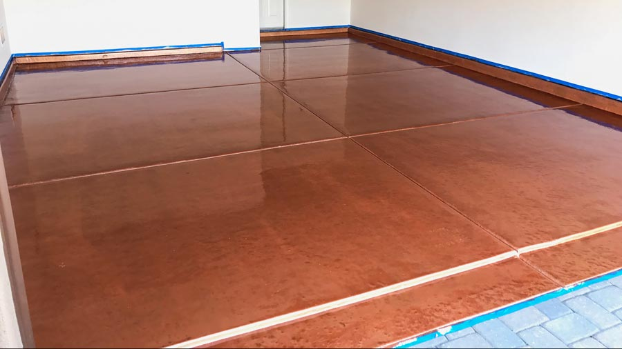 Copper Metallic Epoxy Garage Floor Coating