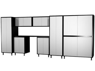 Garage Workbench Cabinet System