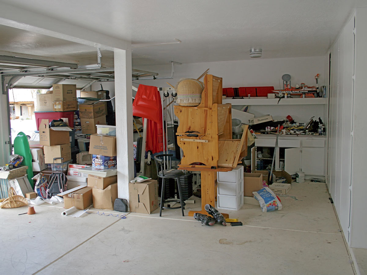 Messy and Cluttered Garage