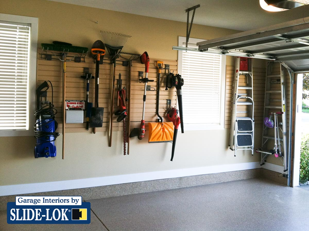 Slatwall tool storage   Garage slatwall storage. Best Garage Interior Design Ideas   Garage Storage Ideas