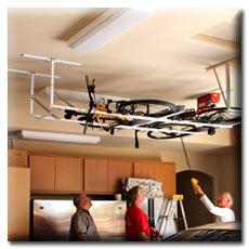 Motorized Overhead Bike Lift Storage