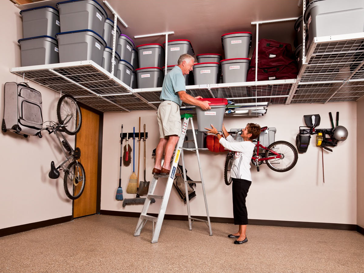 lift electric pictures hoist ceiling shelving photos org viewfindersclub types ideas image of overhead storage garage