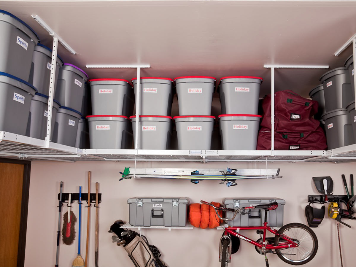 DIY Overhead Garage Storage · Ceiling Mounted Racks ... & Overhead Garage Storage | Ceiling Mounted Racks